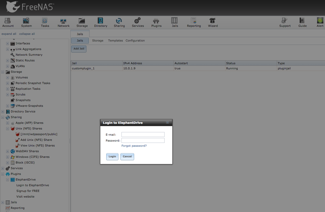 Installing ElephantDrive Plugin on FreeNAS – Help Center